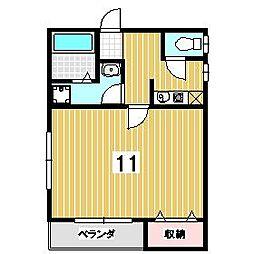 クラスターハウス・サワラギ[3号室]の間取り
