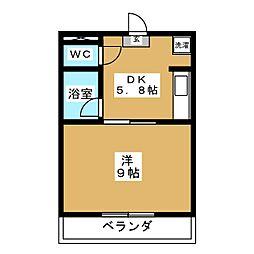 ウランタワー[9階]の間取り