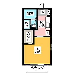 グリーンハイツM弐番館[2階]の間取り