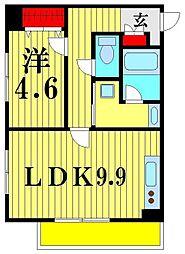 リーブルプレーヌ松戸[1階]の間取り