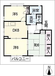 HALU HOUSE B[1階]の間取り