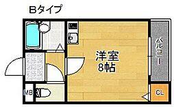 スィ—熊取[1階]の間取り