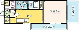 ギャラン吉野町[806号室]の間取り