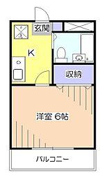 ロックケープハイム[3階]の間取り