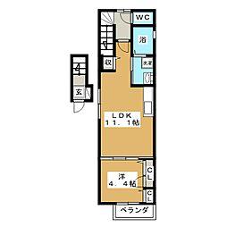 シャーメゾン昭和町[2階]の間取り