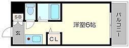ラ・フォーレ桜宮II[6階]の間取り