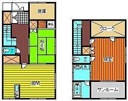 [一戸建] 秋田県大仙市大曲上大町 の賃貸【/】の間取り