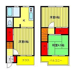 [テラスハウス] 千葉県柏市西柏台1丁目 の賃貸【/】の間取り