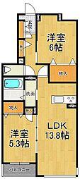 仮称シャーメゾン南武庫之荘4丁目[2階]の間取り