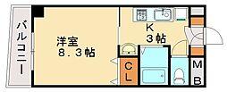 カリタス21[3階]の間取り