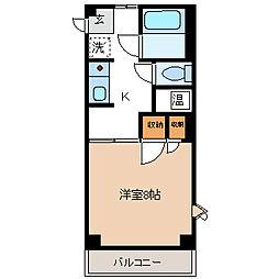 長野県長野市若里4丁目の賃貸アパートの間取り