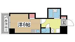 ヒューネット神戸元町通[8階]の間取り