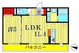 ヴェルデ大島田[2階]の間取り
