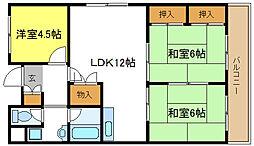 メゾンカタケ 5階3LDKの間取り
