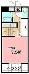 ピュアシティ小倉[704号室]の間取り