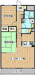 ソシアグレース[2階]の間取り