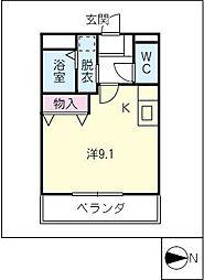 愛知県名古屋市西区西原町の賃貸マンションの間取り