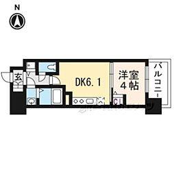 アスヴェル京都太秦311 3階1DKの間取り