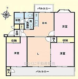 京王山田マンションB棟2階 山田駅歩2分 B