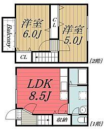 [テラスハウス] 千葉県千葉市若葉区高根町 の賃貸【/】の間取り