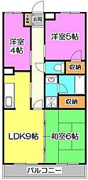 ウッディハイム[4階]の間取り
