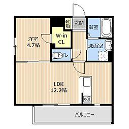 LIBTH本荘 2階1LDKの間取り