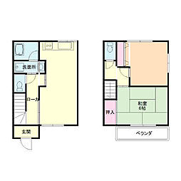 [テラスハウス] 神奈川県足柄下郡湯河原町土肥3丁目 の賃貸【/】の間取り