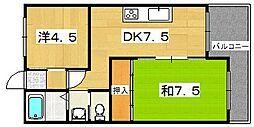 ローズコーポ[4階]の間取り