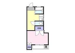 岩崎アパート[202号室]の間取り