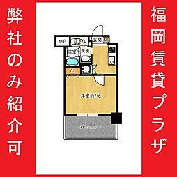 JR鹿児島本線 吉塚駅 徒歩10分の賃貸マンション 7階1Kの間取り