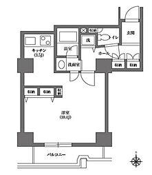 都営三田線 千石駅 徒歩4分の賃貸マンション 11階ワンルームの間取り