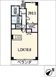 一光ハイツ山王A棟1103号室[11階]の間取り