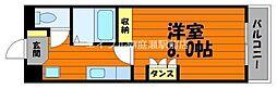 岡山県倉敷市二子丁目なしの賃貸マンションの間取り