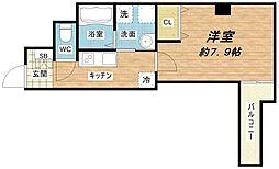 みおつくし都島[2階]の間取り