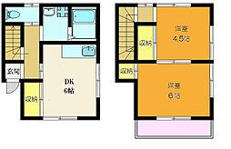 JR総武本線 新小岩駅 徒歩13分の賃貸一戸建て 1階2DKの間取り
