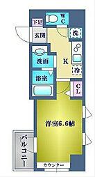 神奈川県横浜市中区吉浜町の賃貸マンションの間取り