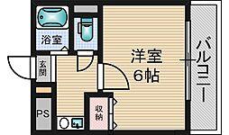 KASEYA新大阪[6階]の間取り