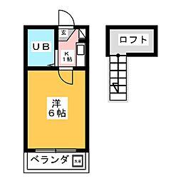 マティアス成田B[1階]の間取り