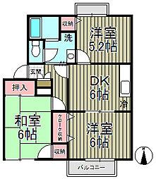 鎌倉山ガーデンヒルズ[203号室]の間取り