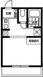 小田急小田原線 本厚木駅 バス20分 千頭下車 徒歩4分の賃貸マンション 1階ワンルームの間取り