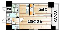 アヴァンセ片野グランデ[12階]の間取り