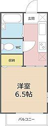 埼玉県さいたま市中央区下落合4丁目の賃貸アパートの間取り