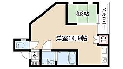 愛知県名古屋市南区港東通1丁目の賃貸アパートの間取り