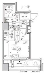 シーフォルム西大井 6階ワンルームの間取り