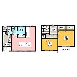 [テラスハウス] 静岡県焼津市浜当目2丁目 の賃貸【/】の間取り