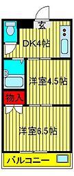 KODAガーデン[102号室]の間取り