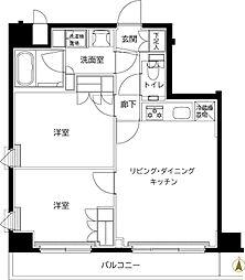 ルーブル東武練馬弐番館 1階2LDKの間取り