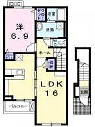カルム・メゾン東館[2階]の間取り