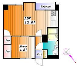 東洋ビル[10階]の間取り