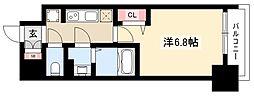 プレサンス名古屋駅ゲート 14階1Kの間取り
